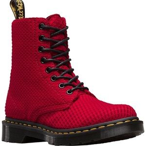 NEW Dr. Martens Page WC Boot, Dark Red, 6 US